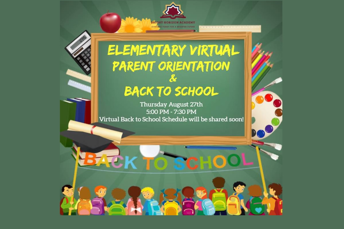 Elementary Virtual Back to School Schedule
