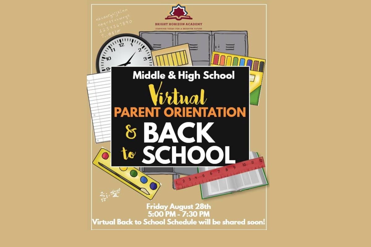 Middle & High School Virtual Back to School Schedule